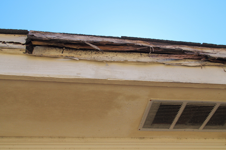 House with rotted fascia and soffit