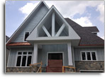 Hardie shake, PVC trim, columns and copper eavestrough